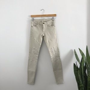Current/Elliott Moto Skinny Ankle Jeans Dove 24 A2